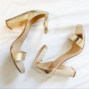 A New Day Gold Strappy Heels